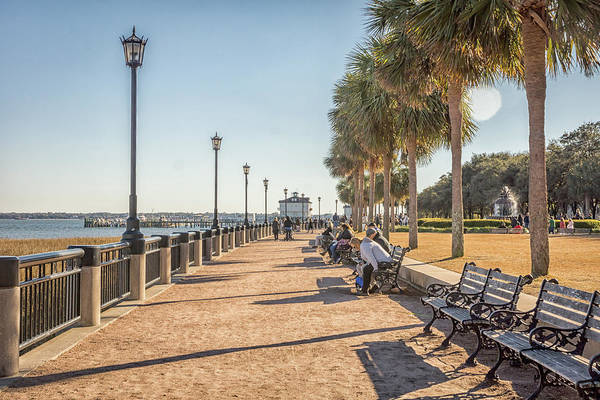 Photograph - Charleston Boardwalk by Framing Places