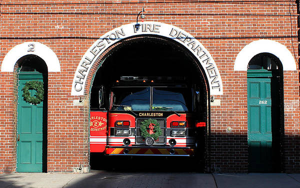Wall Art - Digital Art - Charleston Central Fire Station by Matt Richardson