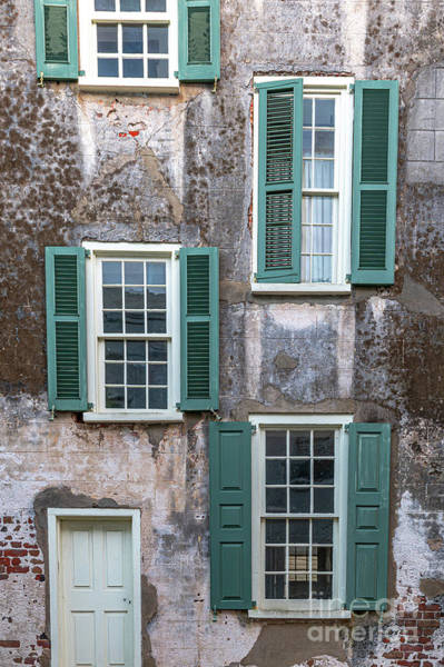 Photograph - Charleston Green Shutters by Dale Powell
