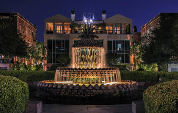 Photograph - Charleston Pineapple Fountain by Dan Sproul