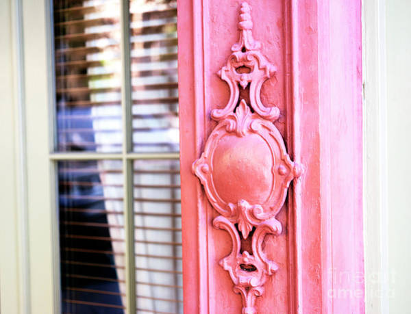Wall Art - Photograph - Charleston Rainbow Row Pink Details by John Rizzuto