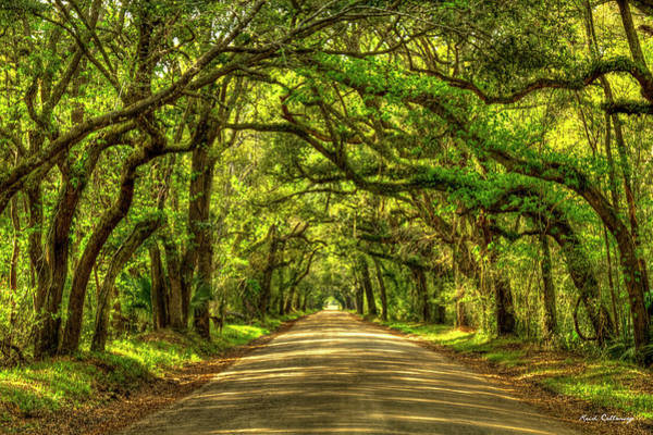 Photograph - Charleston S C The Road Home Botany Bay Road Edisto Island South Carolina Landscape Art by Reid Callaway