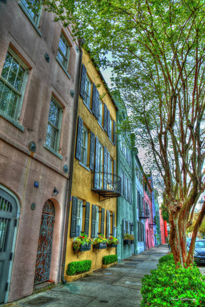 Photograph - Charleston Sc Rainbow Row Landmarks South Carolina Art by Reid Callaway