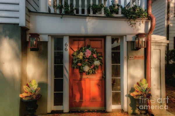 Photograph - Charleston Southern Home Entrance by Dale Powell