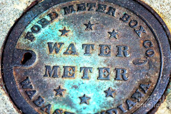 Photograph - Charleston Water Meter Up Close by John Rizzuto
