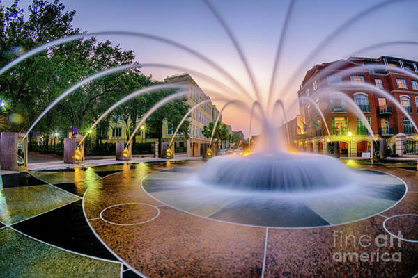 Photograph - Charleston Waterfront Fountain by David Smith