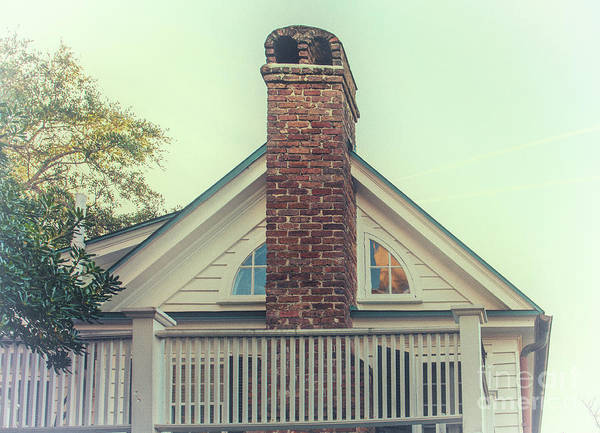 Photograph - Charleston Wood Burning Brick Chimney by Dale Powell