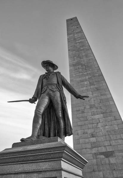 Photograph - Charlestown Bunker Hill Monument And William Prescott by Juergen Roth