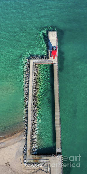 Charlevoix Photograph - Charlevoix Aerial by Twenty Two North Photography