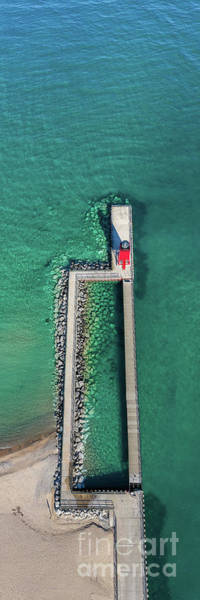 Wall Art - Photograph - Charlevoix Pier From The Sky by Twenty Two North Photography