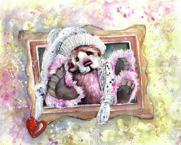 Painting - Charlie Bear Chillstar by Miki De Goodaboom