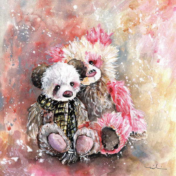 Painting - Charlie Bear Lola And Miss Haversham by Miki De Goodaboom