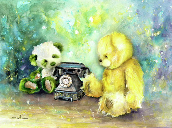 Painting - Charlie Bear Robbie by Miki De Goodaboom