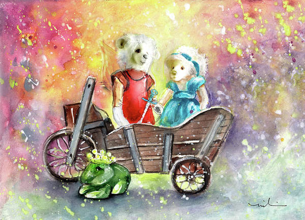 Painting - Charlie Bears King Of The Fairies And Thumbelina by Miki De Goodaboom