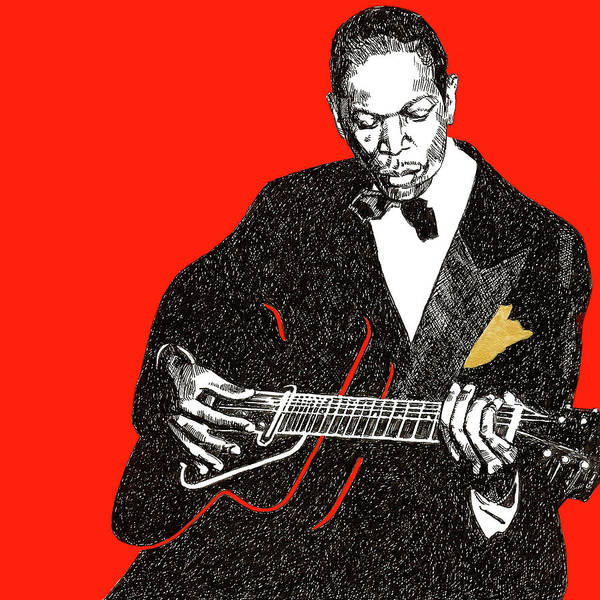Pen And Ink Mixed Media - Charlie Christian by Renee Lawrence