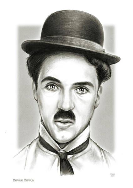 Movie Drawing - Charlie by Greg Joens