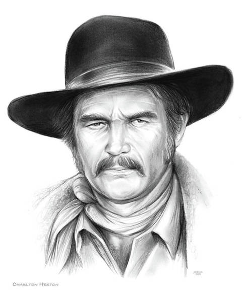 Wall Art - Drawing - Charlton Heston by Greg Joens