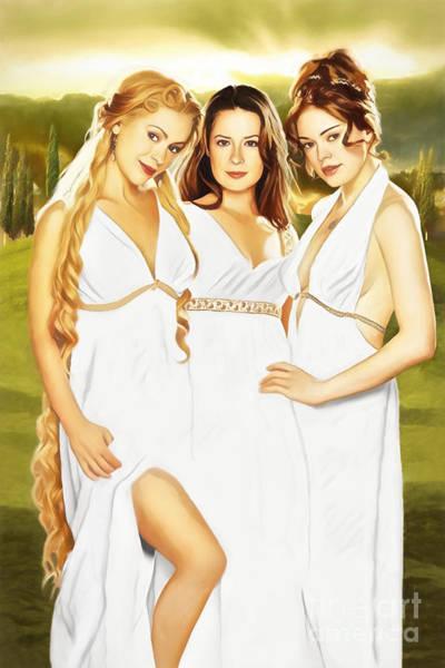 Phoebe Digital Art - Charmed Goddesses by The Halliwell Ones