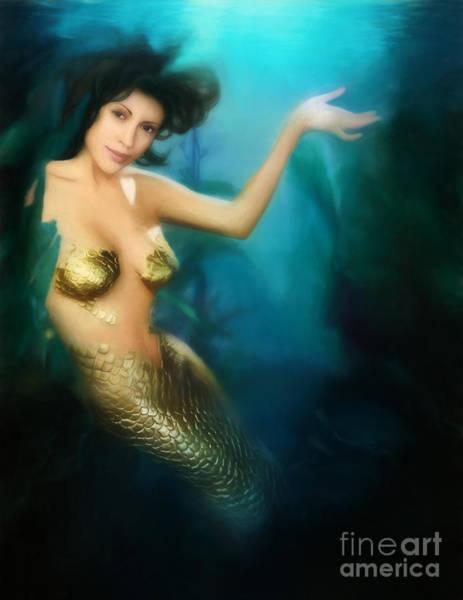 Phoebe Digital Art - Charmed Mermaid by The Halliwell Ones