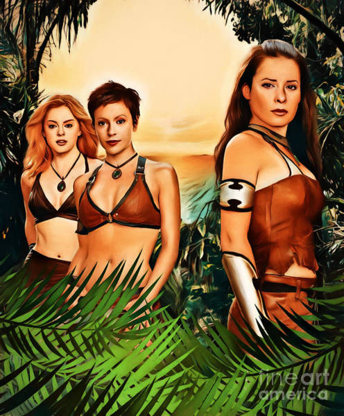 Phoebe Digital Art - Charmed Valkyries by The Halliwell Ones