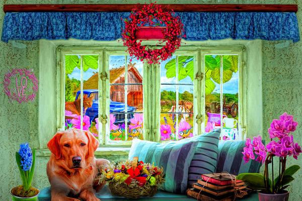 Digital Art - Charming Country Life by Debra and Dave Vanderlaan