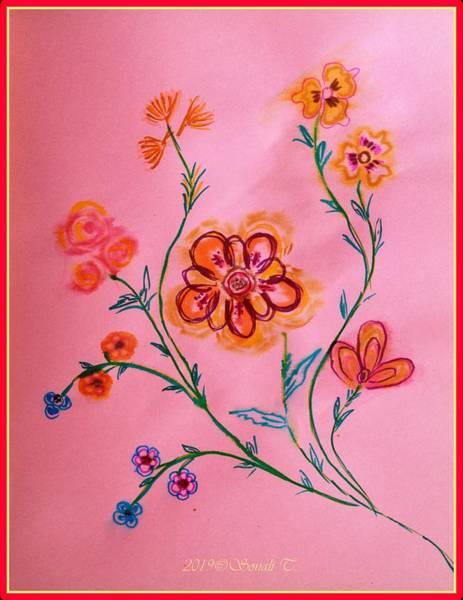 Restaurant Decor Drawing - Charming Spring by Sonali Gangane