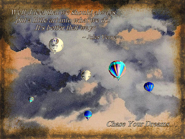 Jules Verne Digital Art - Chase Your Dreams by Glenn McCarthy Art and Photography
