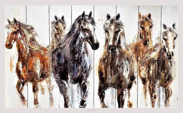 Photograph - Chasin Wild Horses by Rob Hans