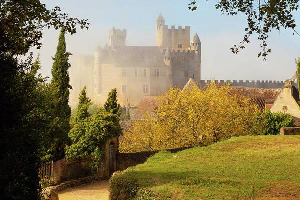 Chateau Beynac In The Mist Art Print