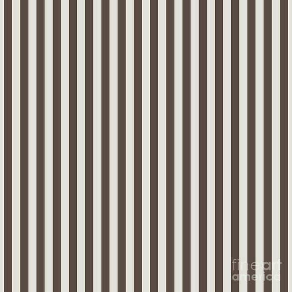 Digital Art - Chateau Brown And Heron Plume Stripe  by Sharon Mau