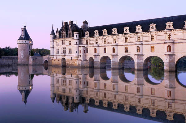 Wall Art - Photograph - Chateau Chenonceau With Cher River by Hans Georg Eiben