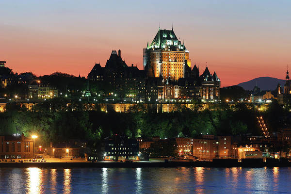 Quebec City Photograph - Chateau Frontenac In Old Quebec City At by Buzbuzzer