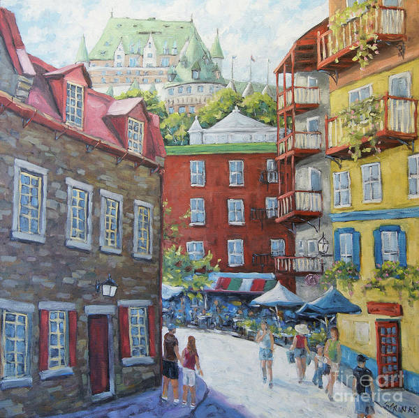 Wall Art - Painting - Chateau Frontenac Lower Quebec By Richard Pranke by Richard T Pranke