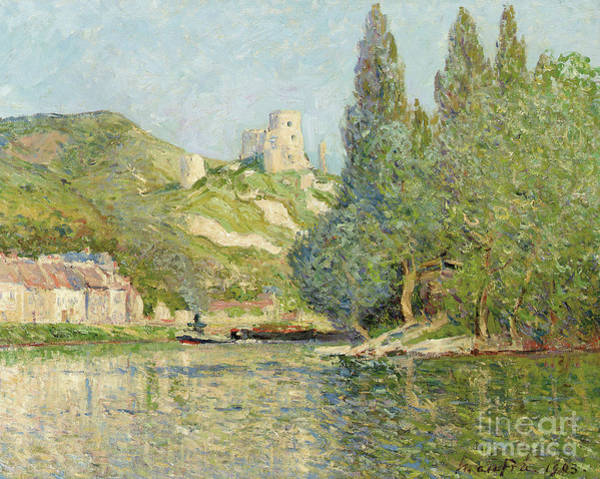 Dappled Light Painting - Chateau Gaillard, Normandy, 1903  by Maxime Emile Louis Maufra