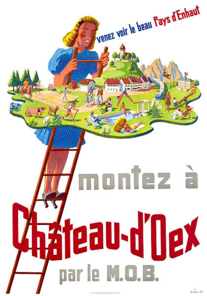Chs Digital Art - Chateau Oex by Long Shot