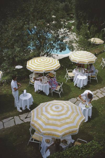 Waiter Photograph - Chateau Saint-martin by Slim Aarons