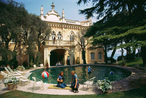 Pets Photograph - Chateau St. Jean by Slim Aarons