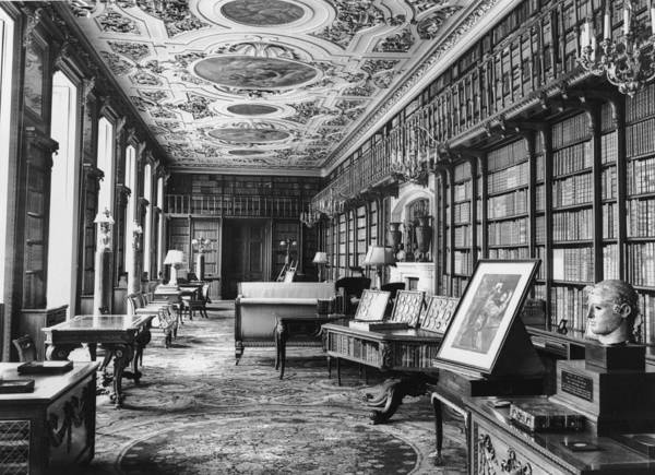 Publication Photograph - Chatsworth Library by Central Press