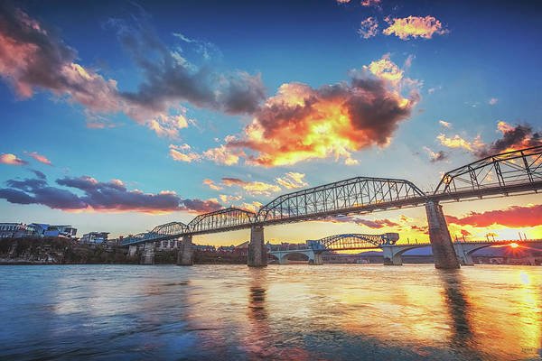 Photograph - Chattanooga Sunset 6 by Steven Llorca
