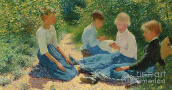 Wall Art - Painting - Chatterboxes, 1886 by Philip Wilson Steer