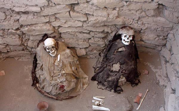 Photograph - Chauchilla Cemetery Mummies, Nazca  by Aidan Moran