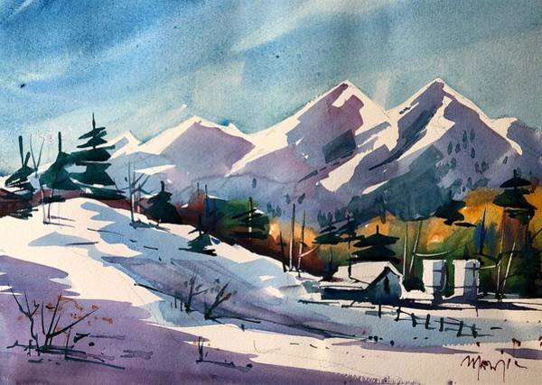 Wall Art - Painting - Chautauqua In Winter by Ugljesa Janjic