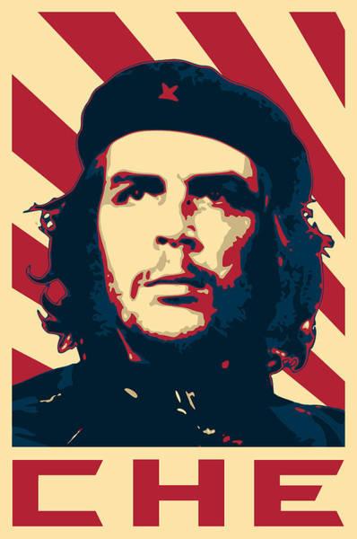 Wall Art - Digital Art - Che Guevara Retro Propaganda by Filip Hellman
