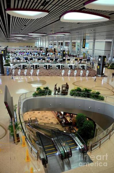Photograph - Check In Counters And Electronic Kiosks Departure Lounge Changi Airport Singapore by Imran Ahmed