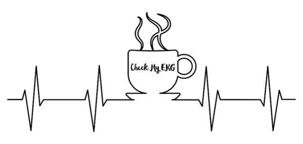 Digital Art - Check My Ekg Coffee Art by Ericamaxine Price