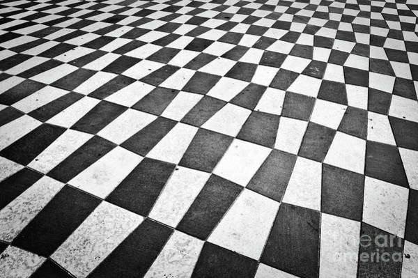 Pavement Wall Art - Photograph - Checkered Pavement by Delphimages Photo Creations