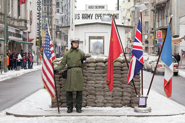 Honor Guard Photograph - Checkpoint Charlie, Berlin, Germany by David Clapp