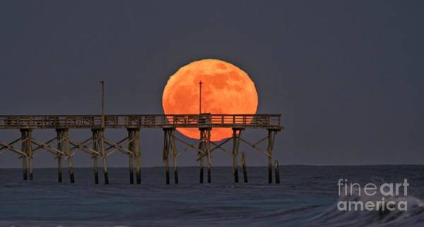 Photograph - Cheddar Moon by DJA Images