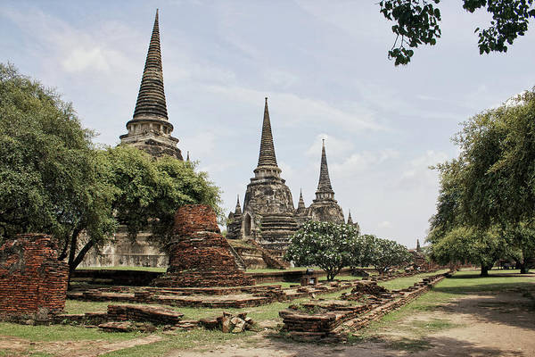 The Philippines Wall Art - Photograph - Chedis Of Wat Phra Si Sanphet by Photography By Jeremy Villasis. Philippines.