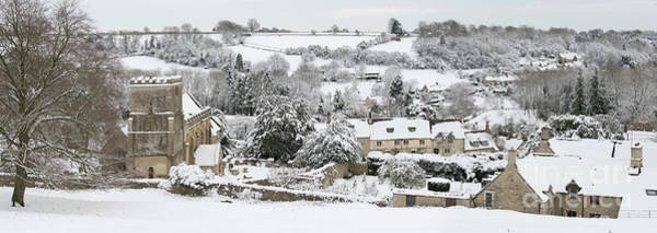 Photograph - Chedworth Village In Winter by Tim Gainey
